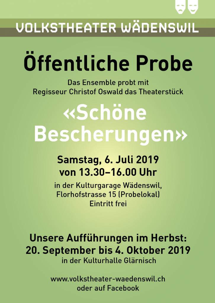 Plakat öffentliche Probe 2019
